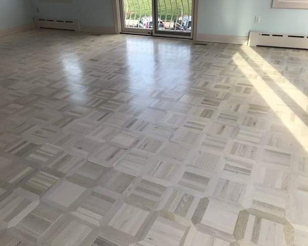 White Parquet Floors Hudson Hardwood