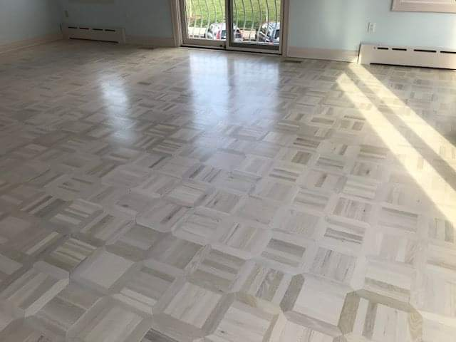 White Parquet Floors Hudson Hardwood