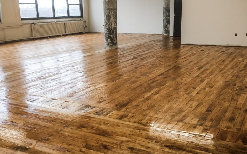 Office Floor Hardwood Restoration