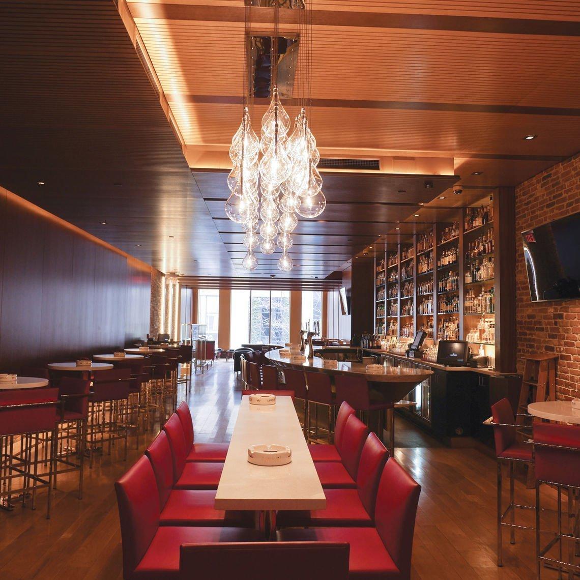 Center City Cigar Bar Hardwood Floor Refinishing