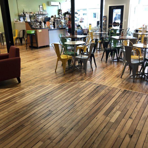 Joe Kellys Coffee House Hardwood Floors