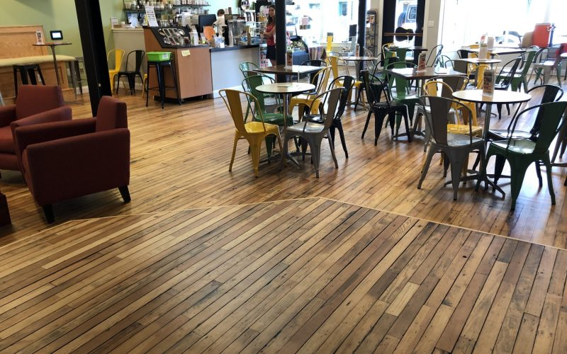 Joe Kellys Coffee House Hardwood Floors